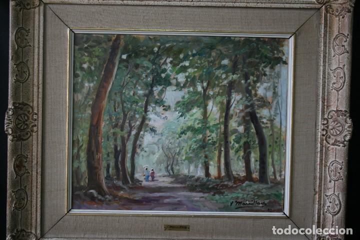 Arte: JOAQUIM MARSILLACH I CODONY (OLOT, GERONA 1905 - 1986) PRECIOSO PAIASJE. MUY BUENA OPORTUNIDAD - Foto 3 - 143730682
