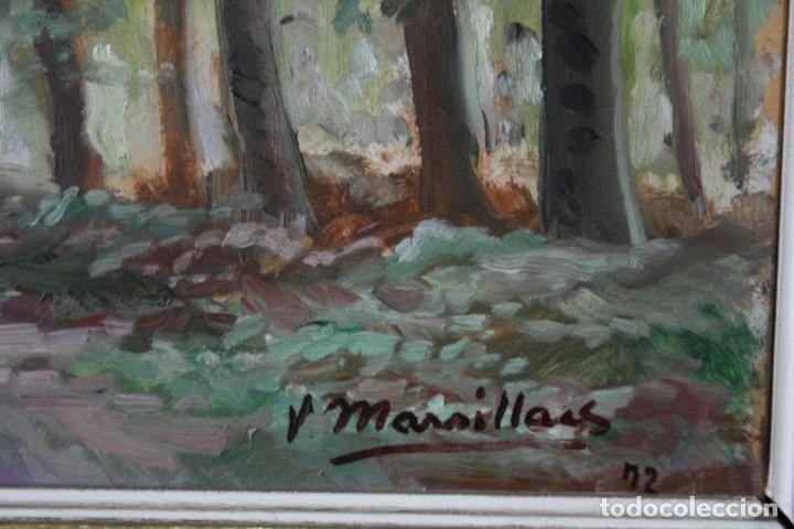 Arte: JOAQUIM MARSILLACH I CODONY (OLOT, GERONA 1905 - 1986) PRECIOSO PAIASJE. MUY BUENA OPORTUNIDAD - Foto 4 - 143730682