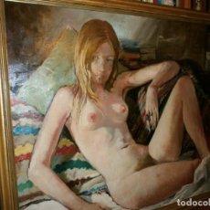 Arte: DESNUDO FEMENINO (MÁLAGA, 1971) - VIRGILIO GALÁN ROMÁN (MÁLAGA, 1931 - 2001) - ÓLEO SOBRE LIENZO.. Lote 143733466