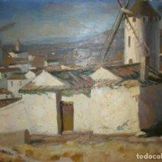Arte: VISTA DEL CAMPO DE CRIPTANA - MANUEL MINGORANCE ACIÉN (1920 - ... ) - ÓLEO SOBRE LIENZO.. Lote 143737066