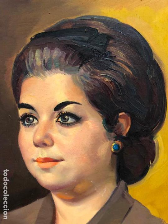 Arte: RETRATO OLEO SOBRE TABLA DEL PINTOR RECONOCIDO TORRES BRU - MEDIDA MARCO 55,5X47,5 CM - Foto 3 - 143740146