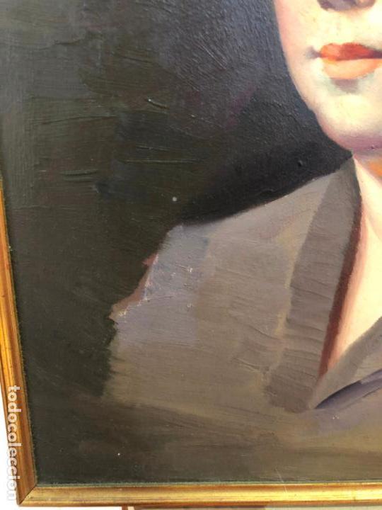 Arte: RETRATO OLEO SOBRE TABLA DEL PINTOR RECONOCIDO TORRES BRU - MEDIDA MARCO 55,5X47,5 CM - Foto 5 - 143740146