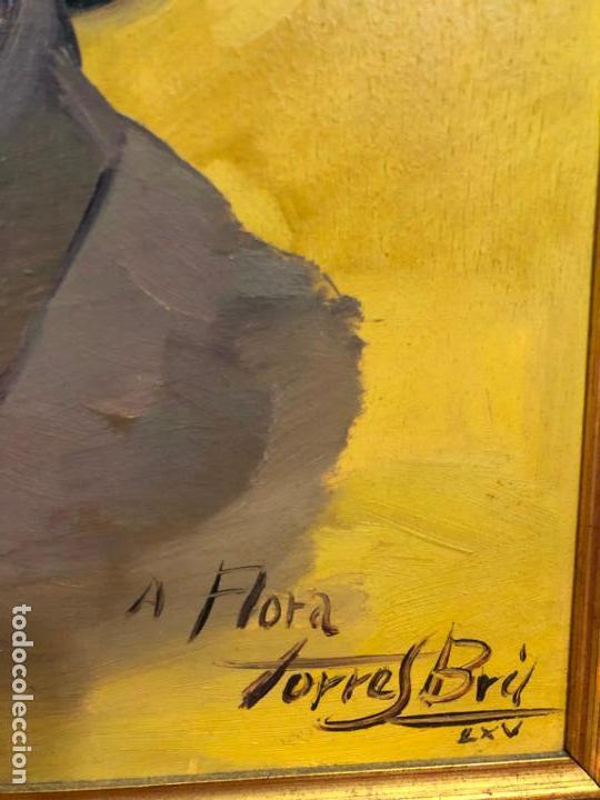 Arte: RETRATO OLEO SOBRE TABLA DEL PINTOR RECONOCIDO TORRES BRU - MEDIDA MARCO 55,5X47,5 CM - Foto 7 - 143740146