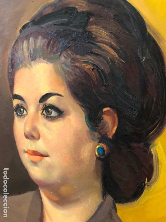 Arte: RETRATO OLEO SOBRE TABLA DEL PINTOR RECONOCIDO TORRES BRU - MEDIDA MARCO 55,5X47,5 CM - Foto 11 - 143740146
