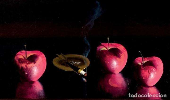 Arte: Bodegón de manzanas. Escuela Francesa. Firmado - Foto 3 - 143747962
