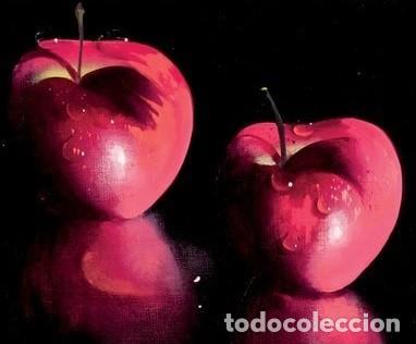 Arte: Bodegón de manzanas. Escuela Francesa. Firmado - Foto 2 - 143747962