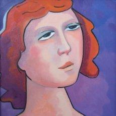 Arte: PARDO DE VERA, MARTA (A CORUÑA, 1948) MELANCOLÍA. ÓLEO SOBRE LIENZO. Lote 143786538