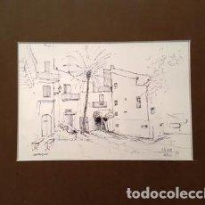Arte: PINTURA DIBUJO A TINTA CADAQUES - ANY 1979 - DE JOSEP MARFA GUARRO DE BARCELONA - D - 1 -. Lote 143854206