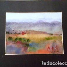 Arte: PINTURA ACUARELA - PAISATGE - ANY 1981 - DE JOSEP MARFA GUARRO DE BARCELONA - D -1-. Lote 143855922