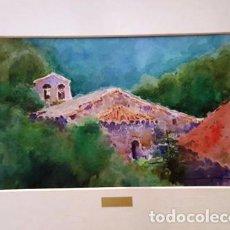 Arte: PINTURA ACUARELA - PAISATGE - ANY 1981 - DE JOSEP MARFA GUARRO DE BARCELONA - D -1-. Lote 143877142