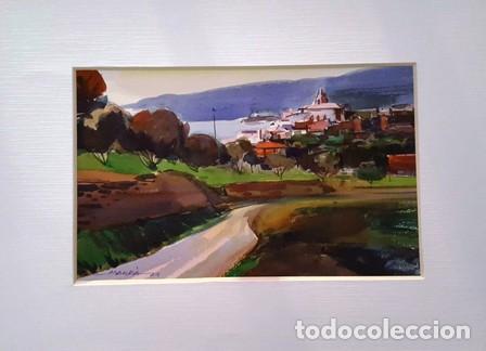 PINTURA ACUARELA - PAISATGE - ANY 1979 - DE JOSEP MARFA GUARRO DE BARCELONA - D -1- (Arte - Pintura Directa del Autor)