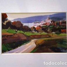 Arte: PINTURA ACUARELA - PAISATGE - ANY 1979 - DE JOSEP MARFA GUARRO DE BARCELONA - D -1-. Lote 143877330