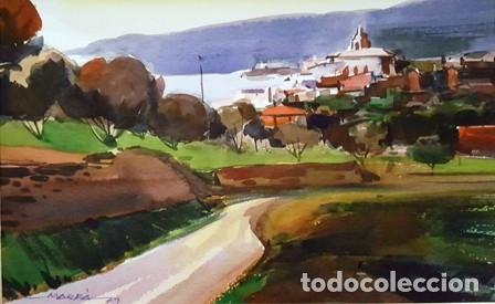 Arte: PINTURA ACUARELA - PAISATGE - ANY 1979 - DE JOSEP MARFA GUARRO DE BARCELONA - D -1- - Foto 2 - 143877330