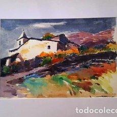 Arte: PINTURA ACUARELA - PAISATGE - ANY 1980 - DE JOSEP MARFA GUARRO DE BARCELONA - D -1-. Lote 143877526