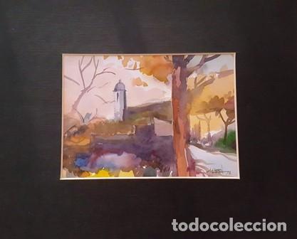 PINTURA ACUARELA - PAISATGE - ANY 1978 - DE JOSEP MARFA GUARRO DE BARCELONA - D -1- (Arte - Pintura Directa del Autor)