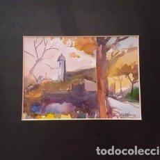 Arte: PINTURA ACUARELA - PAISATGE - ANY 1978 - DE JOSEP MARFA GUARRO DE BARCELONA - D -1-. Lote 143877750