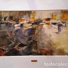 Arte: PINTURA ACUARELA - PORT - DE JOSEP MARFA GUARRO DE BARCELONA - D -1-. Lote 143877950