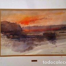 Arte: PINTURA ACUARELA - PORT - DE JOSEP MARFA GUARRO DE BARCELONA - D -1-. Lote 143878414