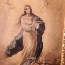 Arte: INMACULADA CONCEPCIÓN - COPIA MURILLO - OLEO SOBRE TABLA.. Lote 143890054