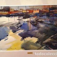 Arte: PINTURA ACURELA PORT LLANÇA ANY 1996 - GRANDE - DE JOSEP MARFA GUARRO DE BARCELONA - D -1-. Lote 143903590
