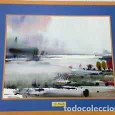 Arte: PINTURA ACUARELA - PAISATGE - DE JOSEP MARFA GUARRO DE BARCELONA - D - 2 -. Lote 143945386