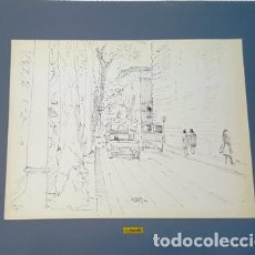 Arte: PINTURA DIBUJO A TINTA 1980 - DE JOSEP MARFA GUARRO DE BARCELONA -GRANDE - D - 2 -. Lote 143945618