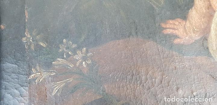 Arte: SAN JOSÉ Y EL NIÑO JESUS. ÓLEO SOBRE LIENZO. ESCUELA DE SEVILLA. SIGLO XVIII. - Foto 2 - 143958918
