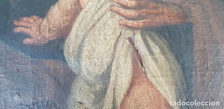 Arte: SAN JOSÉ Y EL NIÑO JESUS. ÓLEO SOBRE LIENZO. ESCUELA DE SEVILLA. SIGLO XVIII. - Foto 3 - 143958918