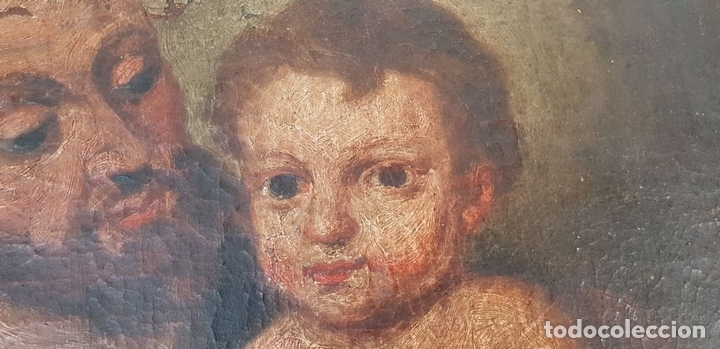 Arte: SAN JOSÉ Y EL NIÑO JESUS. ÓLEO SOBRE LIENZO. ESCUELA DE SEVILLA. SIGLO XVIII. - Foto 4 - 143958918