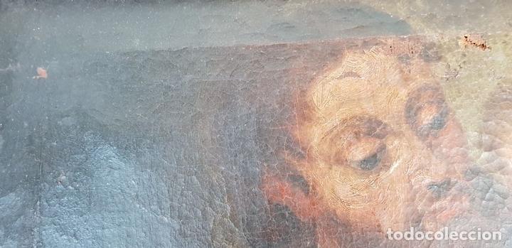 Arte: SAN JOSÉ Y EL NIÑO JESUS. ÓLEO SOBRE LIENZO. ESCUELA DE SEVILLA. SIGLO XVIII. - Foto 5 - 143958918
