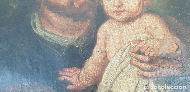 Arte: SAN JOSÉ Y EL NIÑO JESUS. ÓLEO SOBRE LIENZO. ESCUELA DE SEVILLA. SIGLO XVIII. - Foto 6 - 143958918