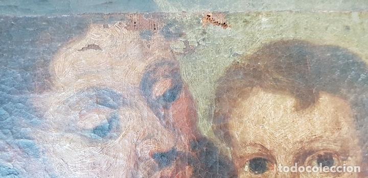 Arte: SAN JOSÉ Y EL NIÑO JESUS. ÓLEO SOBRE LIENZO. ESCUELA DE SEVILLA. SIGLO XVIII. - Foto 7 - 143958918