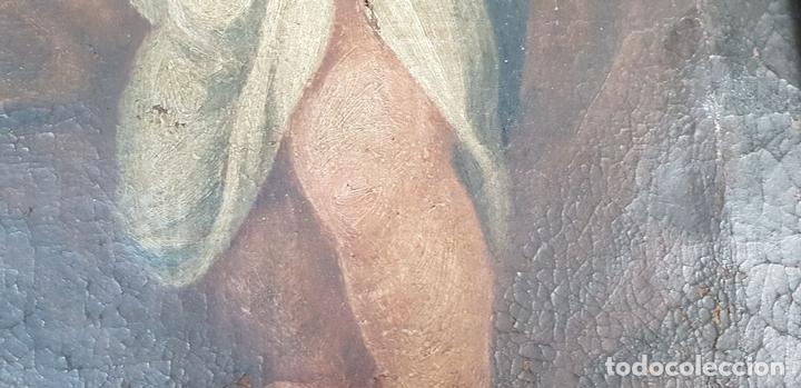 Arte: SAN JOSÉ Y EL NIÑO JESUS. ÓLEO SOBRE LIENZO. ESCUELA DE SEVILLA. SIGLO XVIII. - Foto 9 - 143958918