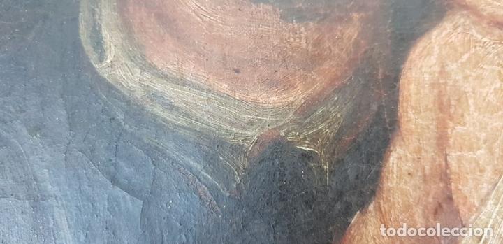 Arte: SAN JOSÉ Y EL NIÑO JESUS. ÓLEO SOBRE LIENZO. ESCUELA DE SEVILLA. SIGLO XVIII. - Foto 11 - 143958918