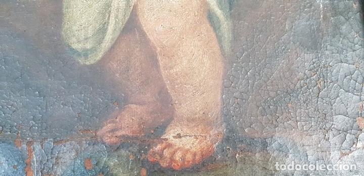 Arte: SAN JOSÉ Y EL NIÑO JESUS. ÓLEO SOBRE LIENZO. ESCUELA DE SEVILLA. SIGLO XVIII. - Foto 14 - 143958918