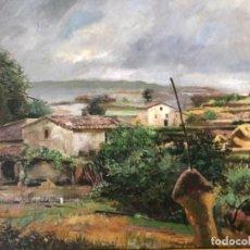 Arte: ÓLEO SOBRE TELA PAISAJE MARESME, FIRMADO RAMON DE CAPMANY Y MONTANER. Lote 143978342