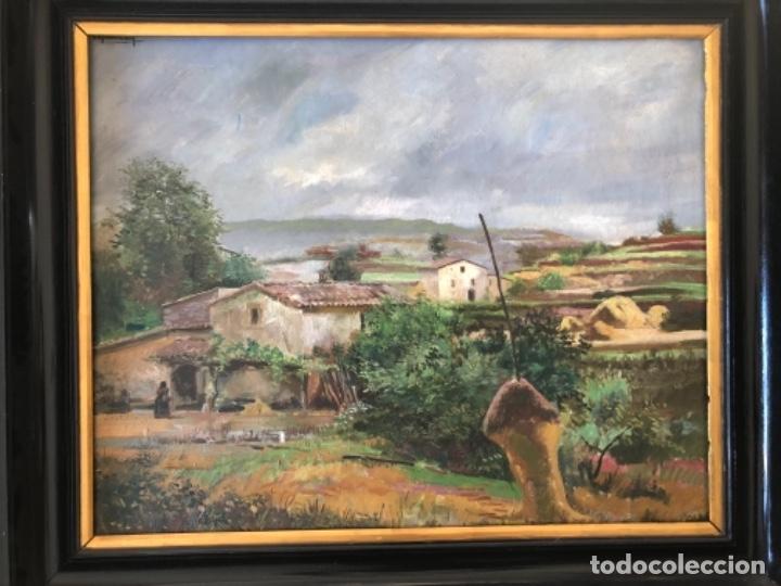 Arte: ÓLEO SOBRE TELA PAISAJE MARESME, FIRMADO RAMON DE CAPMANY Y MONTANER - Foto 2 - 143978342