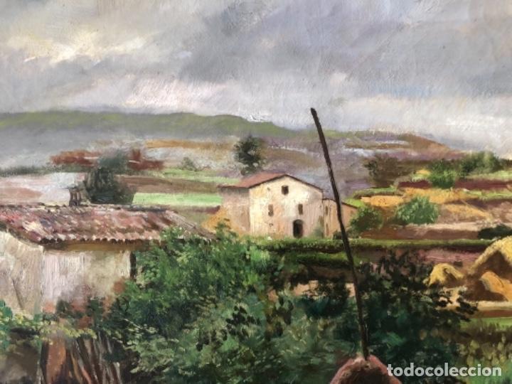Arte: ÓLEO SOBRE TELA PAISAJE MARESME, FIRMADO RAMON DE CAPMANY Y MONTANER - Foto 7 - 143978342