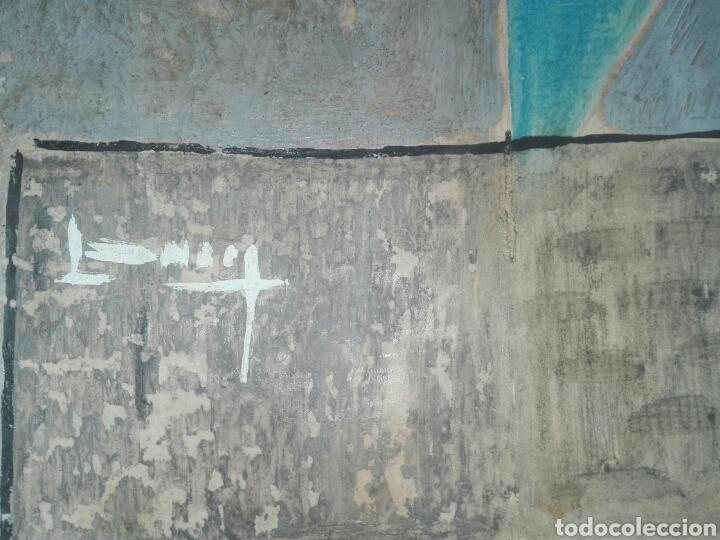 Arte: cuadro pintor canario francisco lezcano titulado nocturno años 50 tecnica mixta en cartulina - Foto 2 - 143982694
