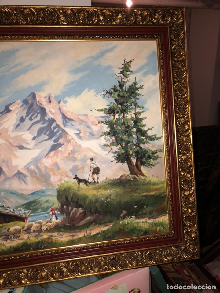 Arte: Bonito óleo sobre lienzo, paisaje, buen tamaño - Foto 3 - 144151612