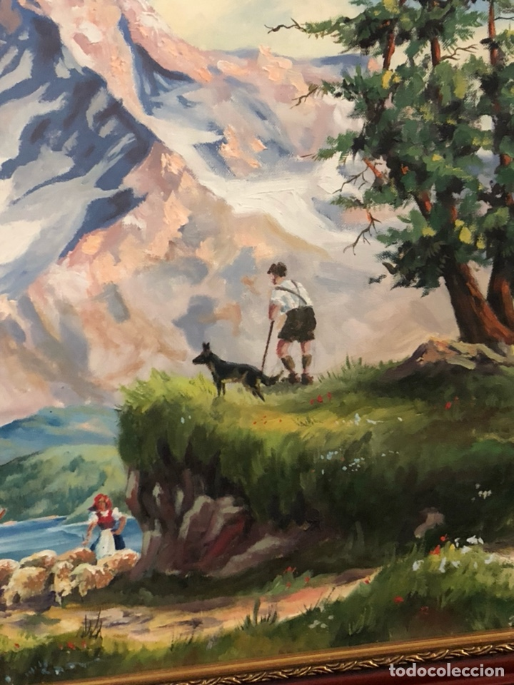 Arte: Bonito óleo sobre lienzo, paisaje, buen tamaño - Foto 4 - 144151612