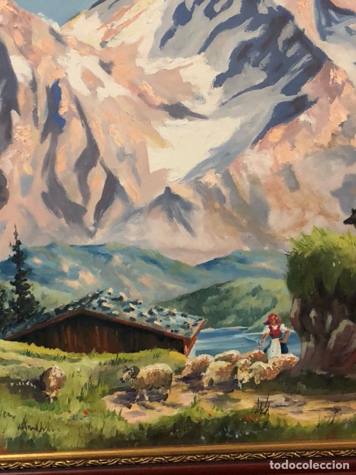 Arte: Bonito óleo sobre lienzo, paisaje, buen tamaño - Foto 5 - 144151612