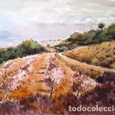 Arte: PINTURA ACUARELA - PAISATGE - ANY 1981 - DE JOSEP MARFA GUARRO BARCELONA - D 1 - GRANDE -. Lote 144170130
