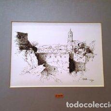 Arte: PINTURA DIBUJO A TINTA - GIRONA - ANY 1978 - DE JOSEP MARFA GUARRO BARCELONA - D 1 - GRANDE -. Lote 144170210