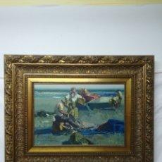 Arte: EUSTAQUIO SEGRELLES. COSIENDO REDES. 1995. SIN MARCO 38X55. Lote 144170272