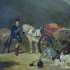Arte - CUADRO OLEO PINTUR INGLESA SIGLO XIX - 144187894