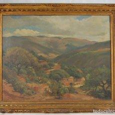 Arte: PAISAJE - ESCUELA CATALANA- PRINCIPIOS S XX- FIRMADO J.MOMBRIS-1938-1-OLEO SOBRE TELA. Lote 144206073