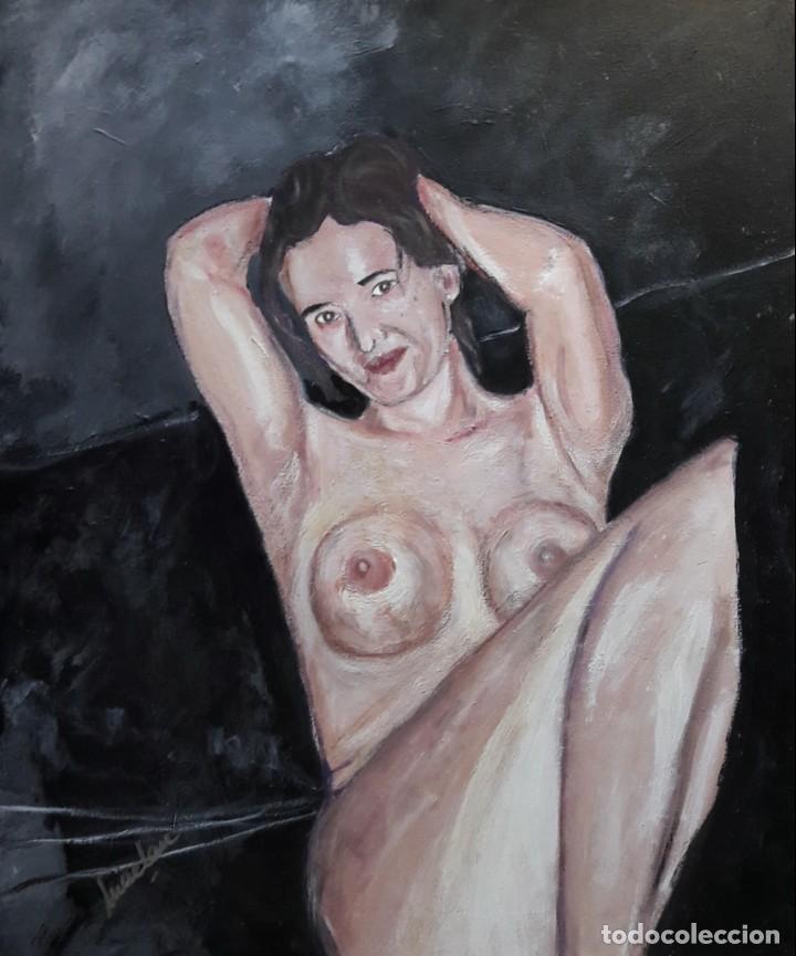 MIRAME. ACRILICO SOBRE LIENZO 55 X 46. MAELAN (Arte - Pintura Directa del Autor)