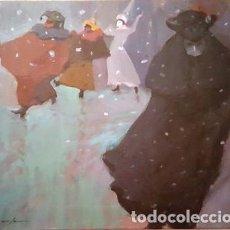 Arte: PINTURA AL OLEO - CARNABAL DE VENECIA 1986 -DE JOSEP MARFA GUARRO BARCELONA - D 2 - GRANDE -. Lote 144295878