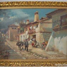 Arte: PAISAJE DE PUEBLO- FIRMADO POR ENRIQUE MARIN- ÓLEO SOBRE TELA-AÑOS 40. Lote 144346418